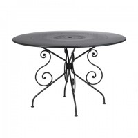 1900 table, 117nbsp;cm diameter in Liquorice