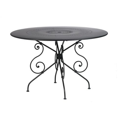 1900 table, 117nbsp;cm diameter in Liquorice