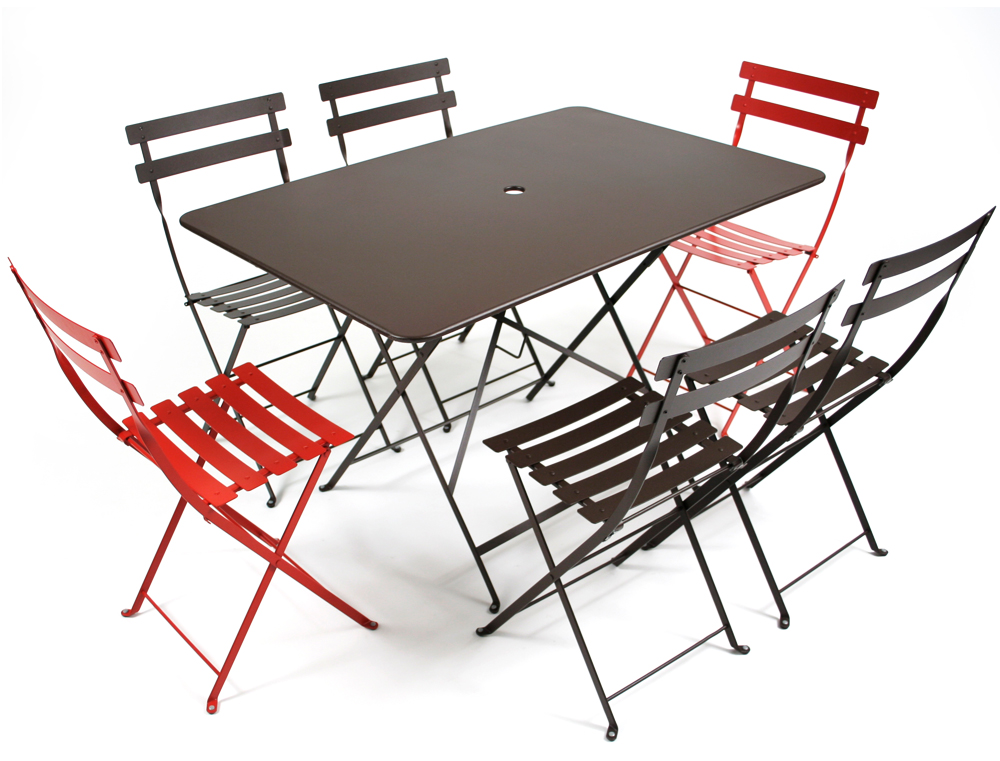 Bistro table 117 77 cm le petit jardin for Table extensible fermob