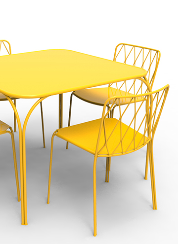Kintbury table & Kintbury chair in Honey