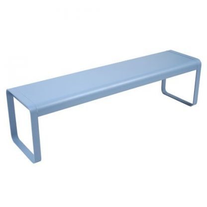 Bellevie bench in Fjord Blue