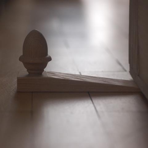 Acorn oak door wedge