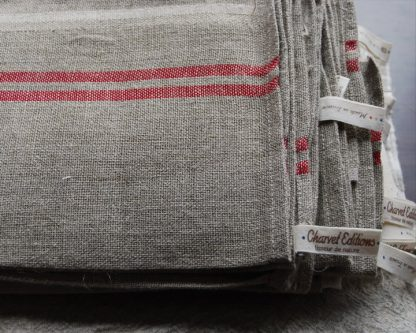 Washed French linen tea towel