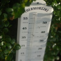 French style enamelled thermometer