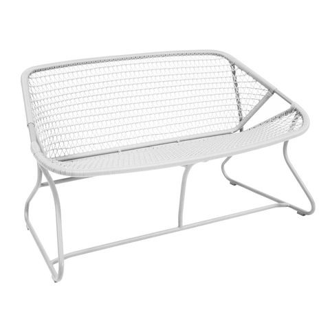 Sixties bench in Cotton White