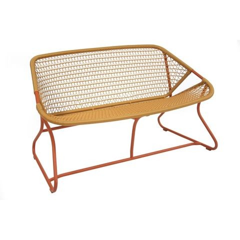 Sixties bench in Paprika/Saffron