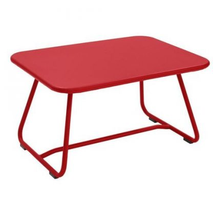 Sixties table in Poppy