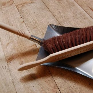 Steel dustpan & floor brush