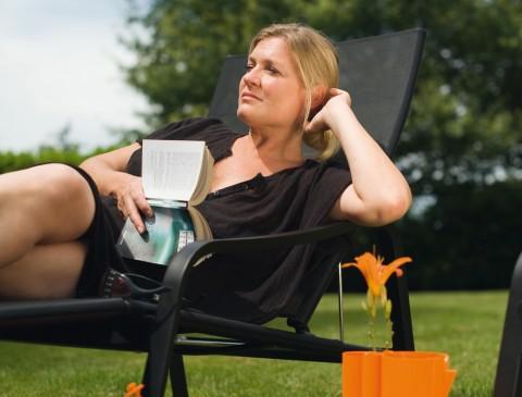 Alizé deck chair in Liquorice