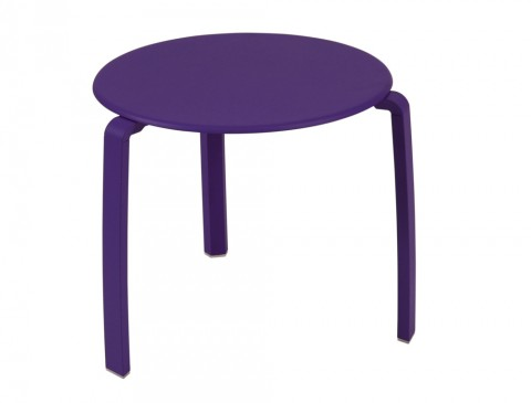 Alizé low table in Aubergine