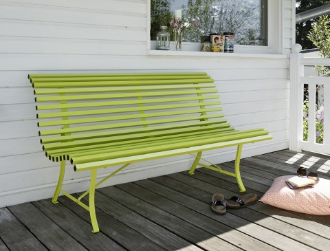 Louisiane bench 150 cm in Verbena