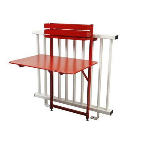 Bistro folding balcony table in Poppy