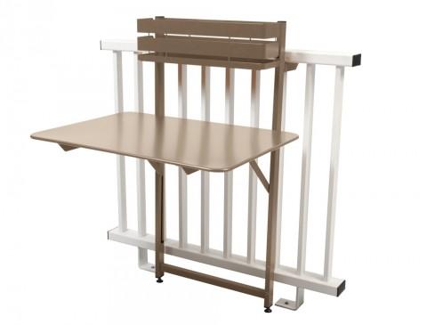 Bistro folding balcony table in Nutmeg
