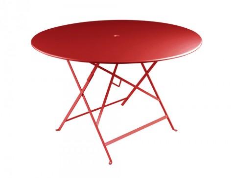 Bistro table 117cm diameter in Poppy