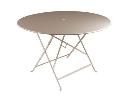 Bistro table 117cm diameter in Nutmeg