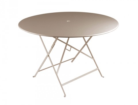 Bistro table 117 cm diameter in Nutmeg