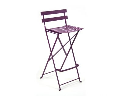 Bistro high chair in Aubergine