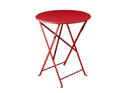 Bistro table 60cm diameter in Poppy