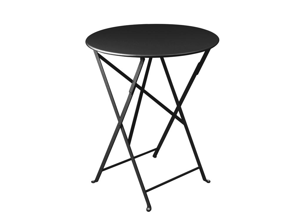 Bistro table 60cm diameter in Liquorice