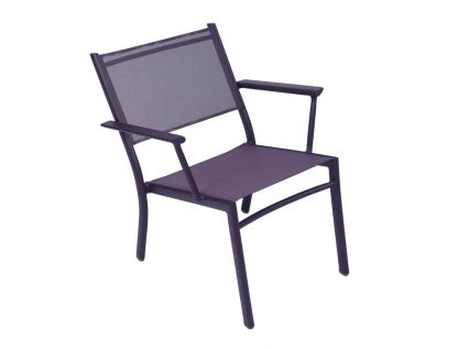 Costa low armchair in Aubergine