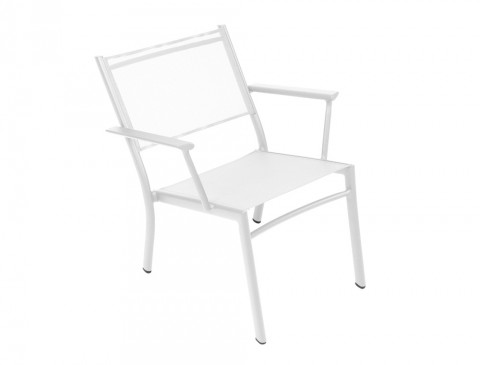 Costa low armchair in Cotton White