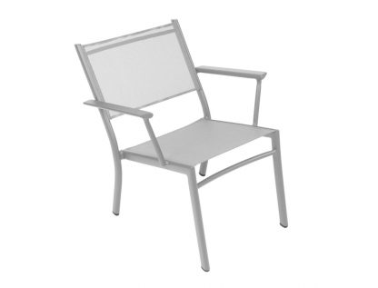 Costa low armchair in Steel Grey