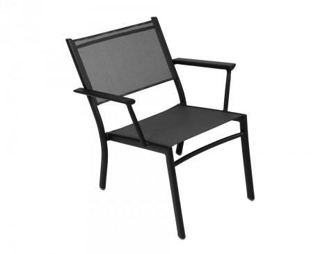 Costa low armchair in Liquorice