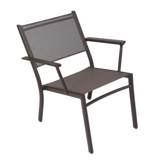 Costa low armchair in Russet
