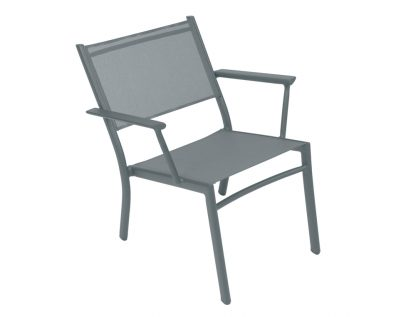 Costa low armchair in Storm Grey