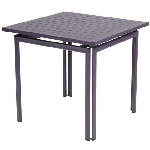 Costa table 80×80 in Plum