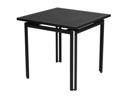 Costa table 80 × 80 in Liquorice