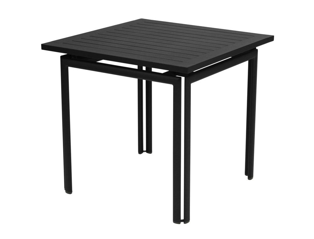 Costa table 80×80 in Liquorice