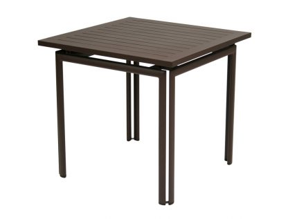 Costa table 80 × 80 in Russet