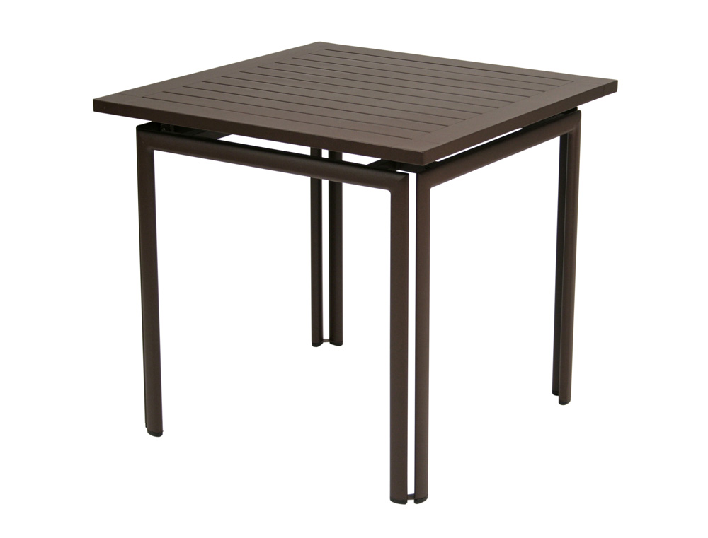Costa table 80×80 in Russet