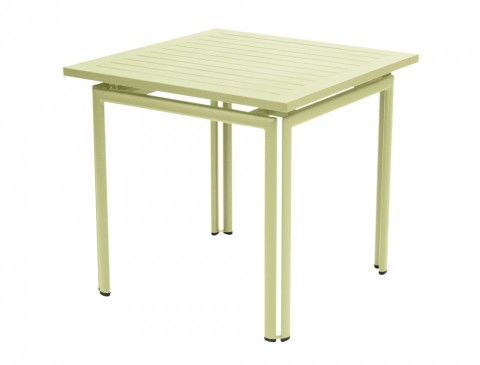 Costa table 80 × 80 in Willow Green