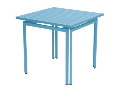Costa table 80 × 80 in Turquoise