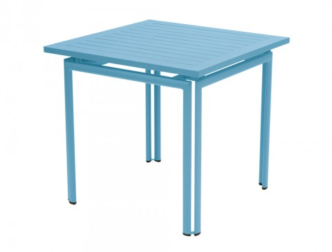 Costa table 80×80 in Turquoise