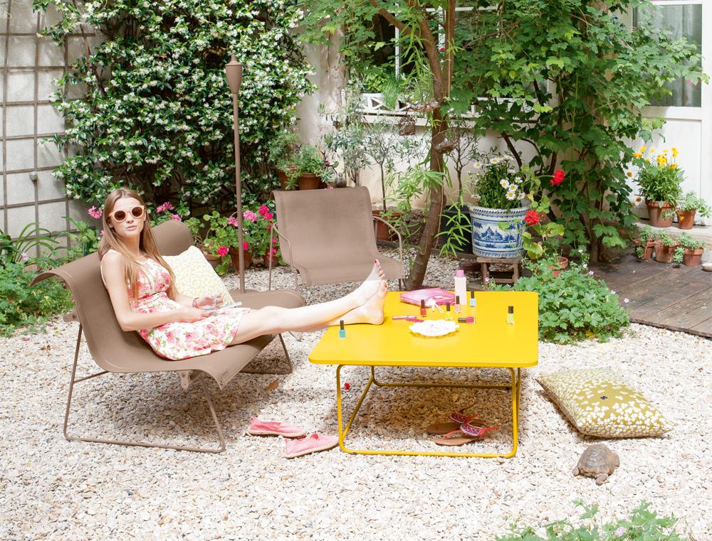 Ellipse two person bench le petit jardin for Petit jardin