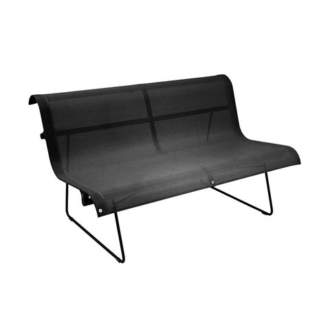 Ellipse two person bench in Liquorice