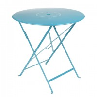 Floreal table Ø 77 cm in Turquoise