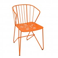 Flower armchair (with perforated seat) in Carrot