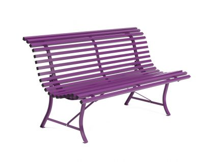 Louisiane bench 150 cm in Aubergine