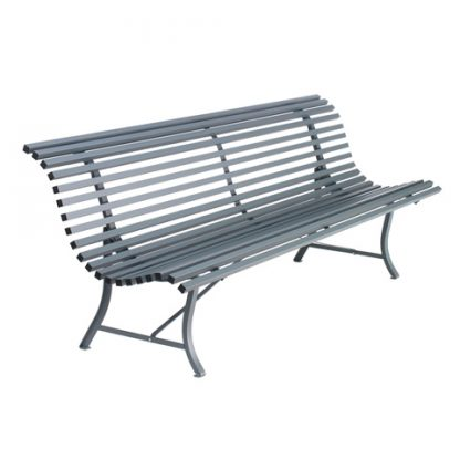 Louisiane bench 200 cm in Storm Grey