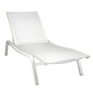Alizé sunlounger XS in Cotton White