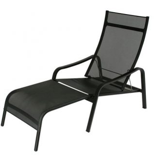 Alizé deck chair in Liquorice