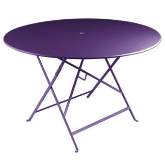 Bistro table 117 cm diameter in Aubergine