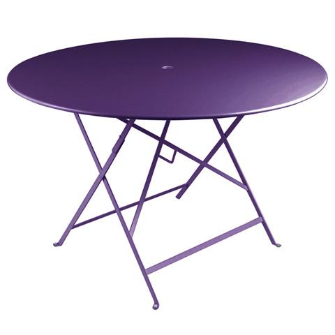 Bistro table 117cm diameter in Aubergine