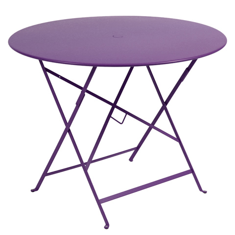 Bistro table Ø 96 cm in Aubergine