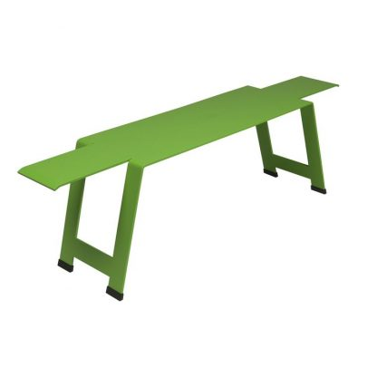 Origami bench in Grass Green