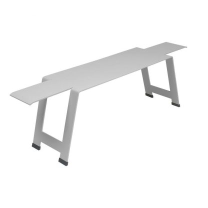 Origami bench in Steel Grey